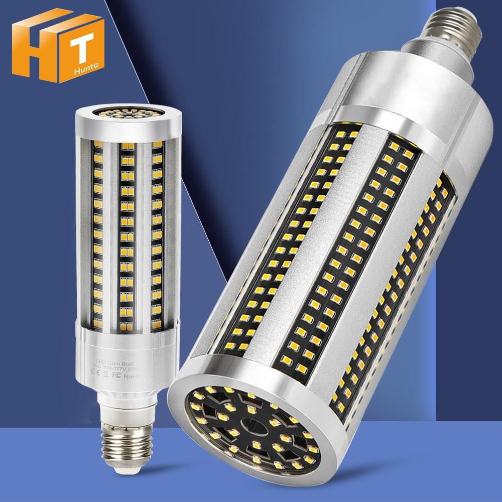 High Quality LED Bulb Whole Body Metal Hight Brightness E27 LED Corn Lamp AC85-265V 20W 35W 50W 100W LED Commercial Lighting