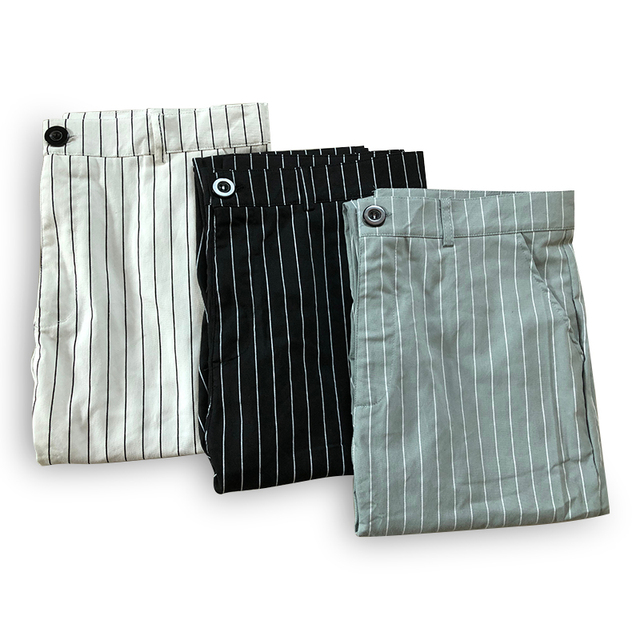 New Men's Striped Casual Slim Fitness Pants Male Trousers Business Pencil Casual Fashion Elastic Bodybuilding Streetwear 4