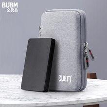 BUBM Externe Festplatte Schutz Tasche Dual Puffer Schicht HDD Protector Fall Power Bank USB Kabel Ladegerät Disk Fall