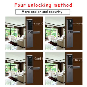 Image 4 - Electronic password door lock touch keypad smart keyless door lock with electronic lock body for home