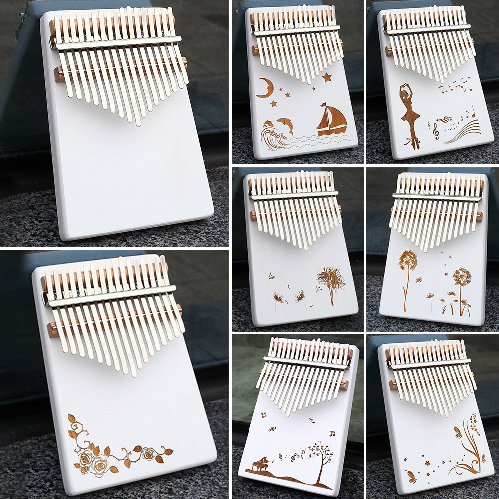 Body-Musical-Instruments Portable 17 Keys Kalimba White Thumb Piano Sound Board Tuning Sound Beginner Entry Instrument Piano