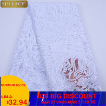 SJD LACE Sequins French Tulle Lace Fabric High Quality African Lace Fabric 2020 Latest Milk Silk Lace For Evening Party SewA1816(China)
