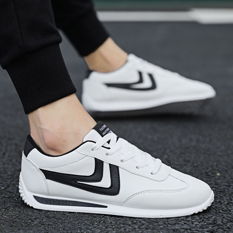 White Sneakers Boys Sport Shoes Comfort Sneakers Men Leather Shoes 2020 Spring/autumn Unisex Vulcanized Shoes Mens Sneakers