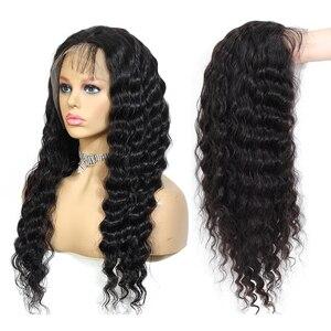 Image 3 - QT 4*4 dantel kapatma peruk insan saçı peruk brezilyalı gevşek derin dalga siyah kadınlar için ön koparıp dantel ön insan saçı peruk