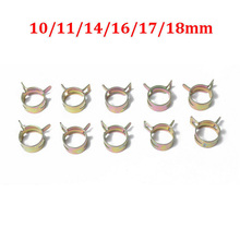 84pcs/Set new 65MN Spring Steel Retaining Clip For Motorcycle Oil Fuel Pipe Hose Clamp Water Tube