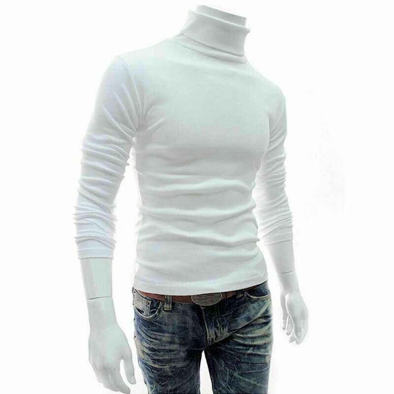 겨울 두꺼운 따뜻한 캐시미어 스웨터 남자 터틀넥 남성 스웨터 슬림 맞는 풀오버 남자 클래식 양모 니트 당겨 옴므