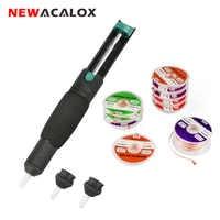 NEWACALOX Vacuum Desoldering Pump Solder Sucker Desoldering Wire Solder Remover Desoldering Pen PCB Cleaner Welding Repair Tool