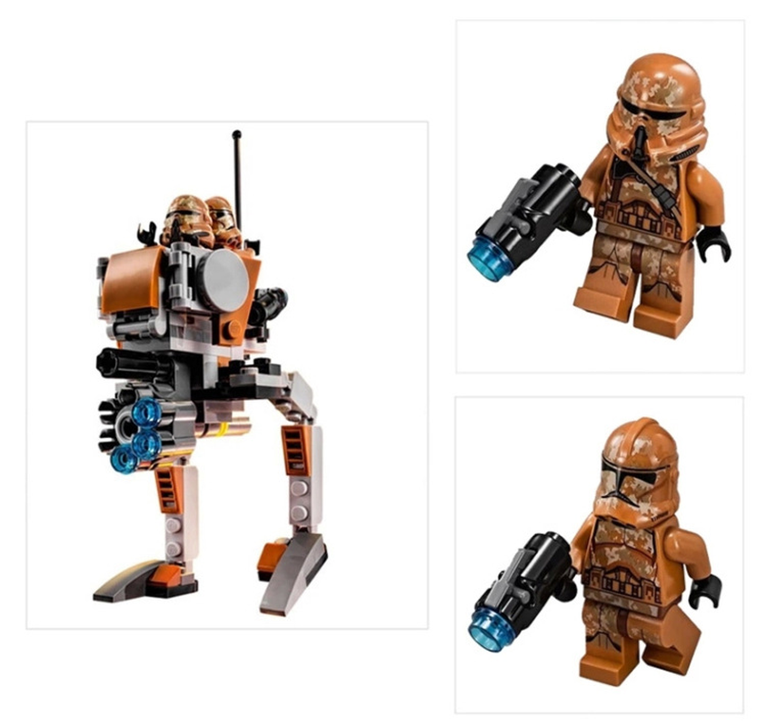 10368 Compatible With Lepining Star Wars Geonosis Troopers Block Set Building Brick Starwars Toy For Kids