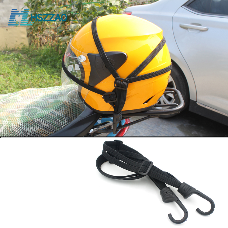 60CM Motorcycle Helmet Straps Motorcycle Accessories Hooks Luggage Retractable Elastic Rope Fixed Strap Moto Helmet Luggage Net