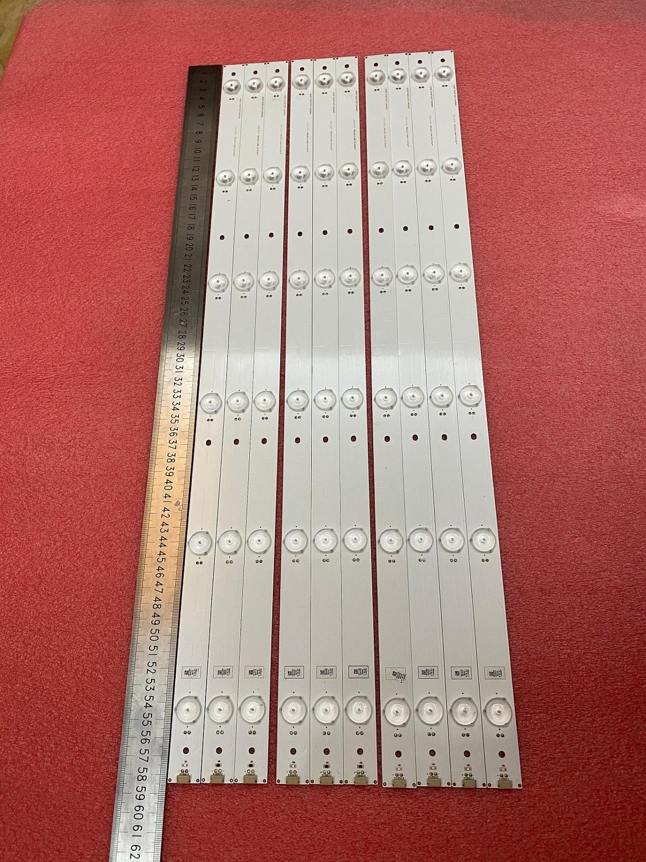 Tira de luz led para luz de fundo 10 pçs/lote led, faixa para hisense z-ub55ec591 LC-55n6000u