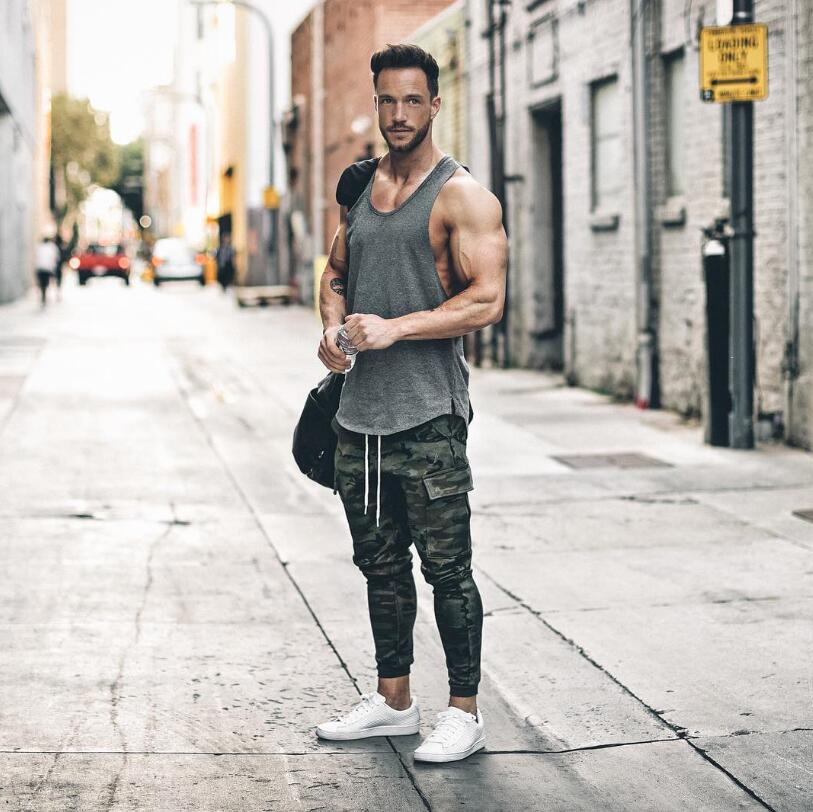 Brand Gyms Clothing Brand Singlet Canotte Bodybuilding Stringer Tank Top Men Fitness Shirt Muscle Men Sleeveless Vest Tank Top