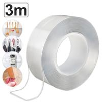 3/5pcs 3M Nano Magic Tape Double Sided Tape Transparent Reusable Traceless PU Waterproof Adhesive Tape Home Improvemen