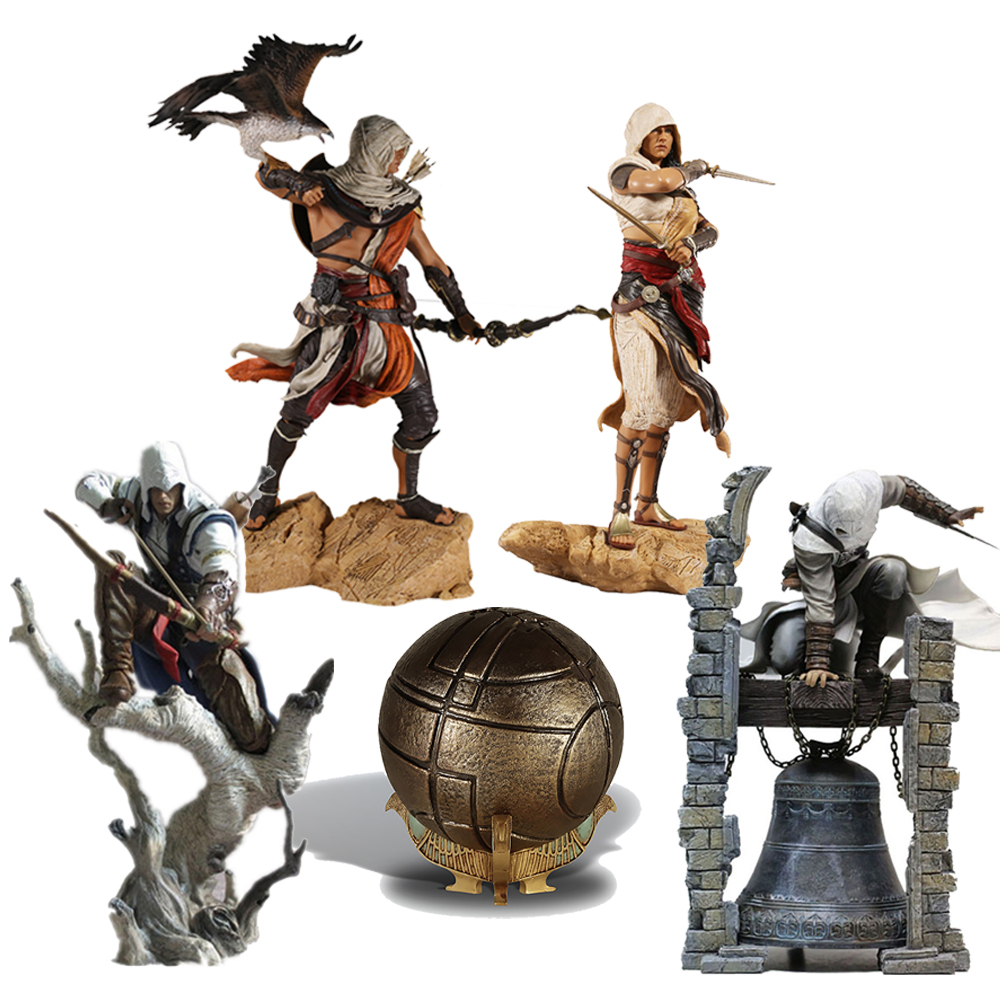 28cm Creed Origins Bayek Aya Altair The Legendary Conner Eden Apple Of Eden Action Figure Model Toys Doll Christmas Gifts