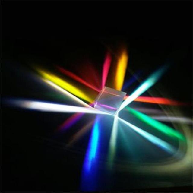 Фото 127*127*127 мм оптическая призма радужный куб светильник большой