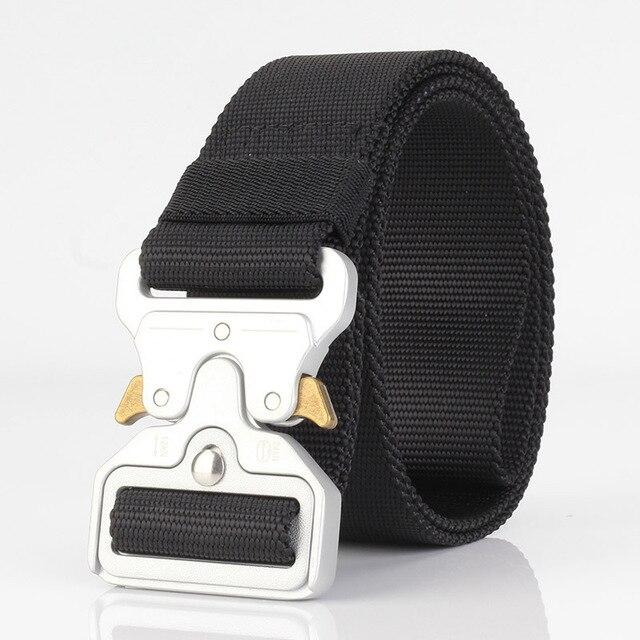 Belt Rollercoaster Metal Button Canvas Hip Hop Street Wear Safety Hip Hop