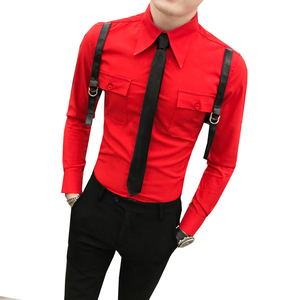 Image 5 - סתיו חדש הגעה מזדמן עסקי גברים שמלת חולצות יוקרה מקרית ארוך שרוול באיכות גבוהה זכרים חולצות חברתיות Camisa Masculina