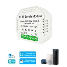 Módulo de interruptor inteligente WiFi, interruptor de luz de 2 vías, bricolaje, Control de eWeLink, aplicación Compatible con Alexa, Google Home/Nest IFTTT