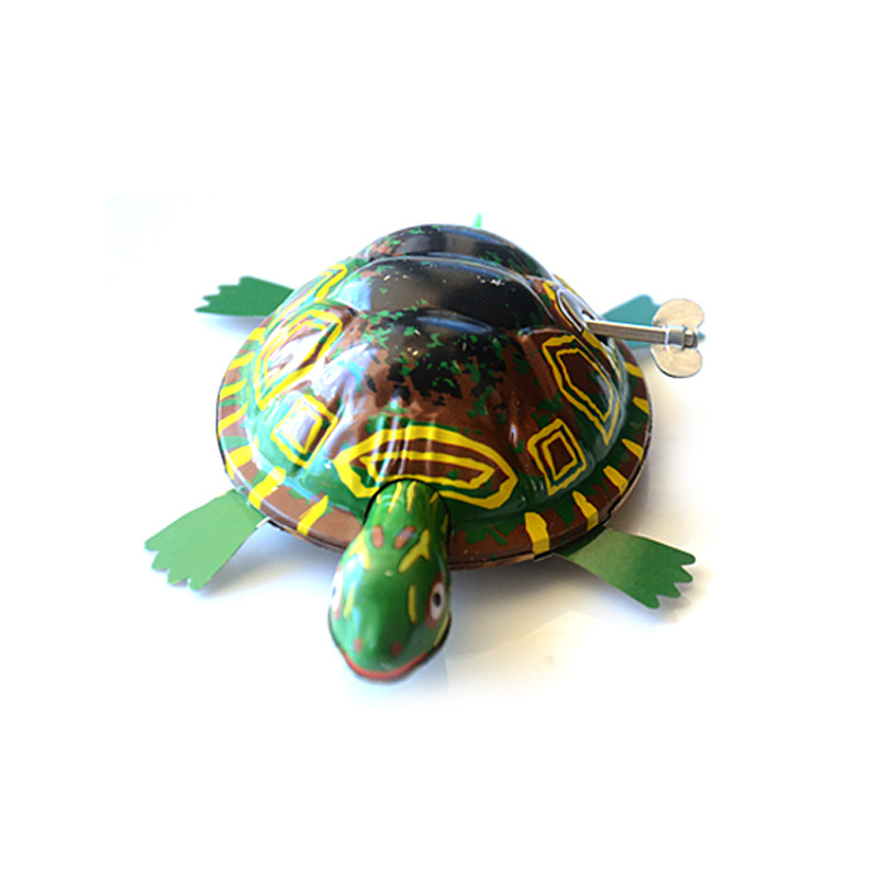 Yiwu Stall Toy Spring Algam Turtle Algam Winding Turtle New Style Spring Tin Toys