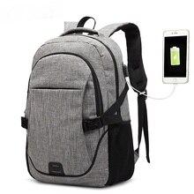 AUGUR Anti-theft Backpacks Laptop Bag Rucksack Travel Business USB Charge Port College Student School Shoulder Bag