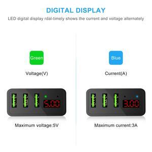 Image 2 - CHOETECH 3 יציאת USB 5v3A מטען עבור iPhone Xs X 8 7 LED דיגיטלי תצוגת מהיר קיר טלפון מטען עבור סמסונג Xiaomi ASUS