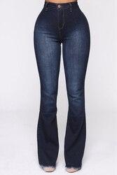 Расклешенные джинсы с высокой талией, джинсы с расклешенным низом на весну и осень, джинсы для женщин, джинсы скинни для мам, широкие штаны р...
