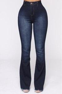 Image 4 - גבוהה מותן אבוקה ג ינס תחתון פעמון ג ינס אביב סתיו אתחול לחתוך ג ינס לנשים ג ינס סקיני ג ינס אמא רחב רגל בתוספת גודל מכנסיים
