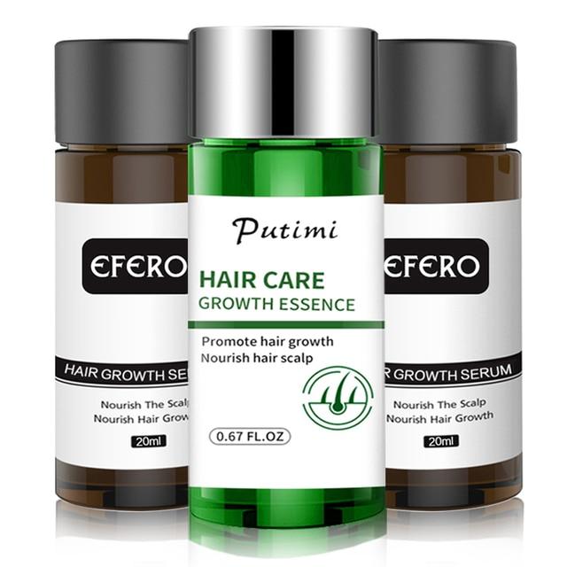 EFERO Haar Wachstum Essenz Schnelle Leistungsstarke Haarausfall Produkt Bart Öl Wachstum Serum Ätherische Öle Haar Wachstum Behandlung Haare Pflege