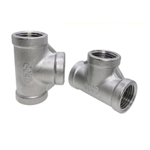 """1 PCS SS304 Stainless Steel Female Threaded 3 Way Tee T Pipe Fitting 1/8"""" 1/4"""" 3/8"""" 1/2"""" 3/4"""" 1""""BSP Threaded"""