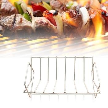 BBQ Rib Rack Grilling Rib Rack for Smoking,Stainless Steel Roast Rack Dual Purpose Fit for Big Green Egg and Kamado Joe