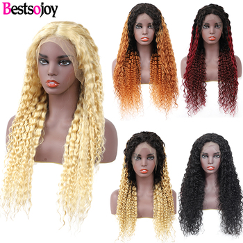 Bestsojoy 613 Blonde Water Wave Lace Front Human Hair Wigs Ple Plucked Ombre Remy Hair Wigs For Black Women 5 Colors Available