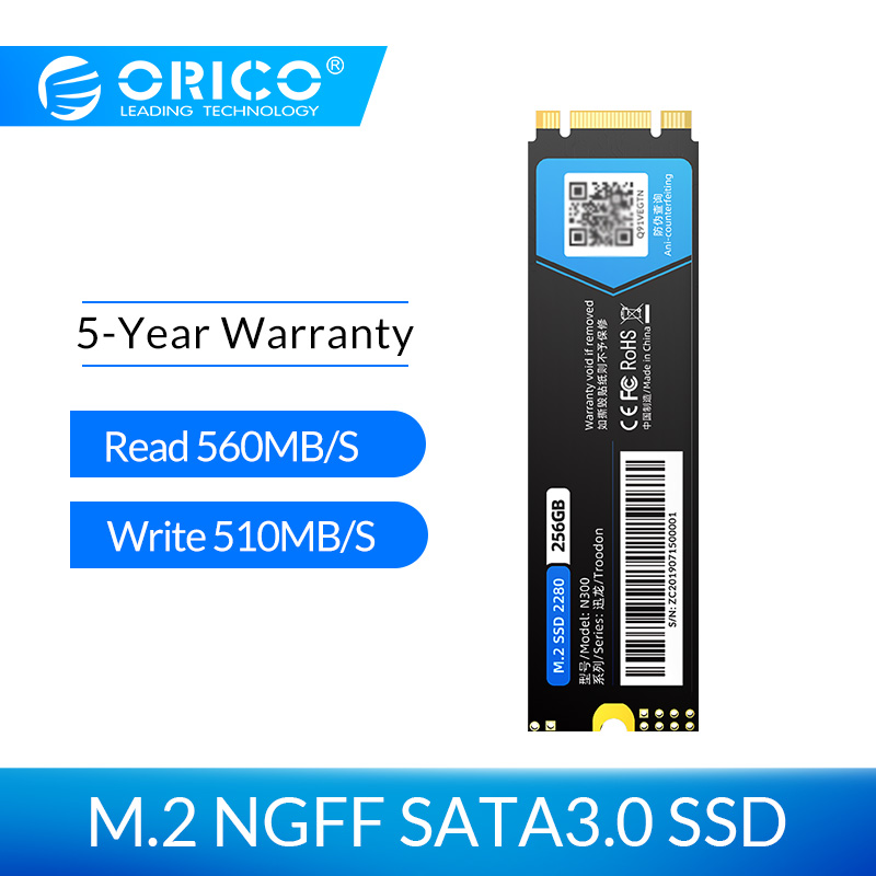 ORICO M.2 SATA SSD 128 go 256 go 512 go 1 to M2 NGFF SSD M.2 2280 mm disque dur interne à semi-conducteurs pour ordinateur portable de bureau