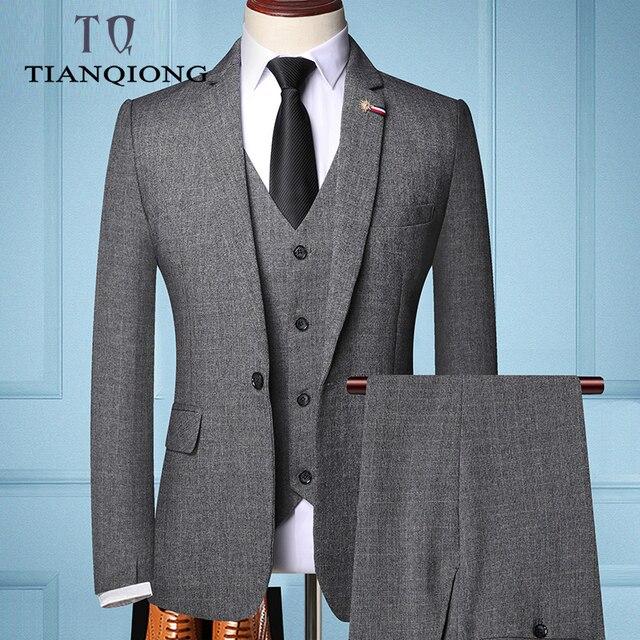 TIAN QIONG Brand Fashion Men 's Slim Fit Business Suit   2