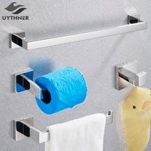 Набор аксессуаров для ванной комнаты хромированный крючок для халата вешалка для полотенец барная полка держатель для салфеток держатель для зубной щетки аксессуары для ванной комнаты