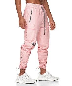pink men jogging pants sports sweatpants
