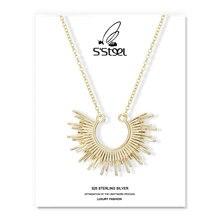 Ожерелье s подвески искусственное серебро золотая цепочка в