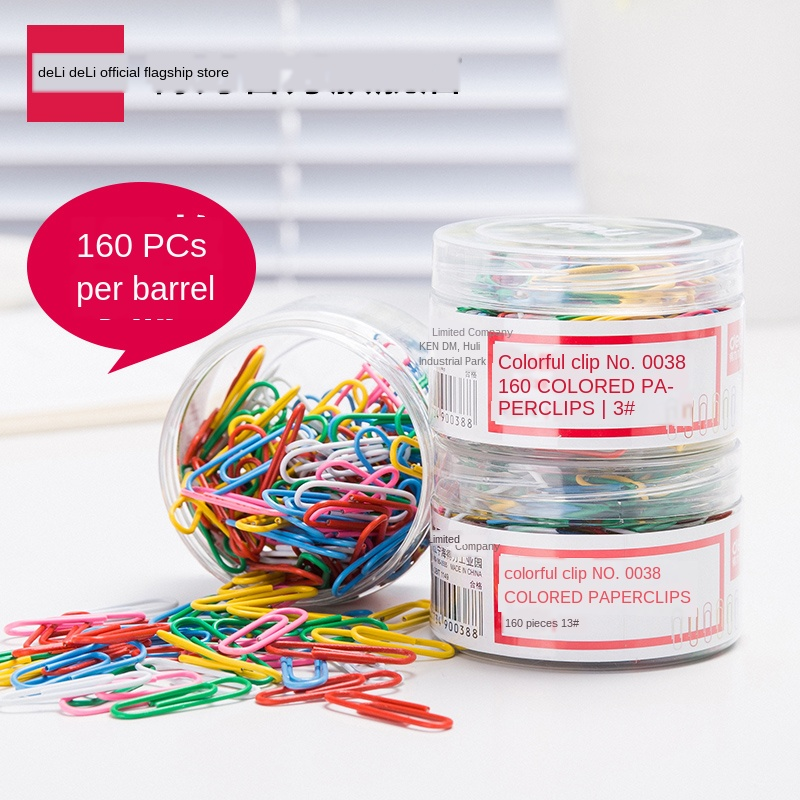 Paper Clip Colorful Creative Lovely Medium Paper Clip Office Supplies 29mm 160/barrel Paper Clips Decorative