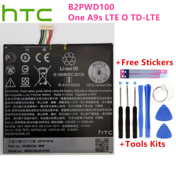 Original HTC battery 2300mAh B2PWD100 For HTC B2PWD100 One A9s LTE O TD-LTE 35H00259-00M batteries + Free Tools original high capacity b2pzm100 battery for htc alpine u play u play td lte u play td lte dual sim 2435mah