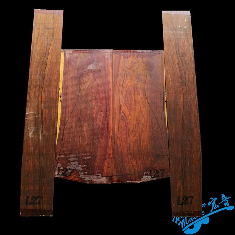Sud America Cocobollo In Legno di Palissandro Per 41 pollici Chitarra Posteriore E Laterale Kit Pannello Chitarra FAI DA TE Materiali Realizzati A Mano - 3