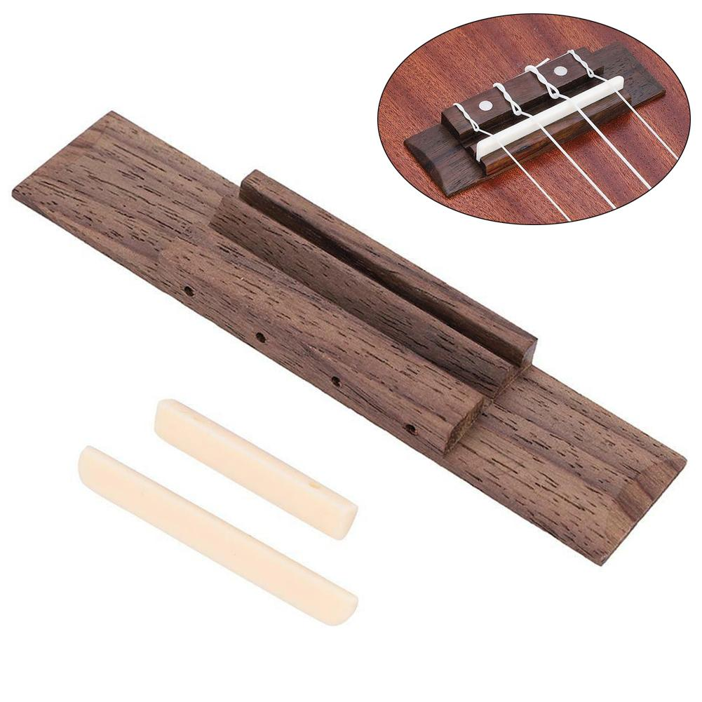 Rosewood Bridge Nut&Saddle Uke Ukelele Repairing Part For 4 String Ukulele Guitar Parts Stringed Instruments Accessories
