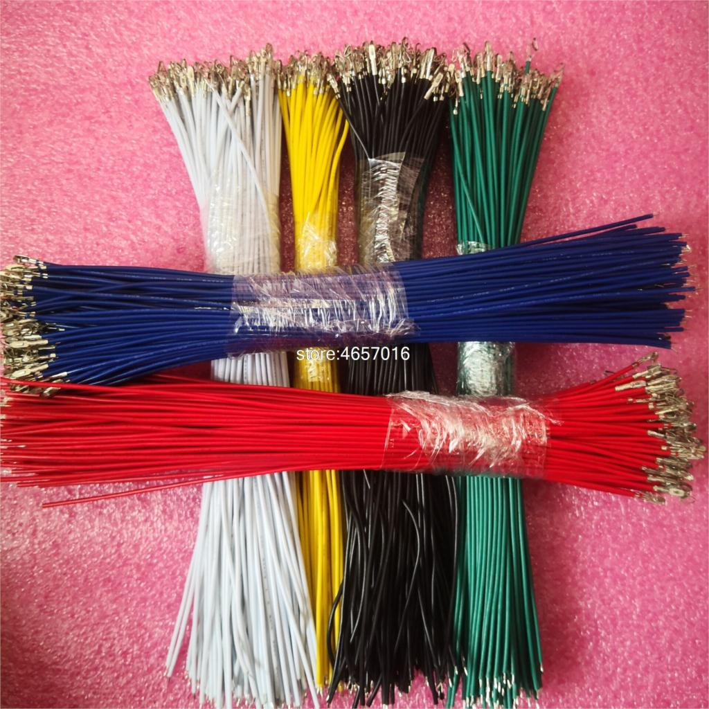 50pcs/lot KF2510 Line Single Head Spring Electronic Wire Connecting Line 20CM 26AWG KF2510 1P Terminal Cable