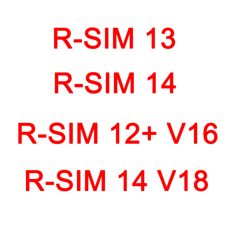 RSIM 12+ V16 ,R-SIM13 ,R-SIM 14 ,R-SIM 14 V18 Automatic Bomb Menu Version Perfectly Unlock Card For IPhone XS Max XR X 8 7 6 5S