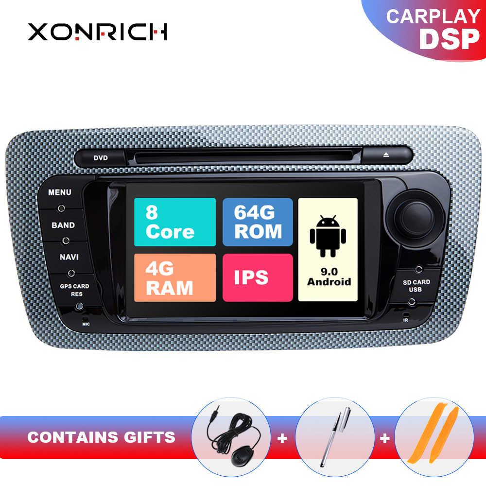 IPS DSP 64GB 2 Din Android 9 radio samochodowe nawigacja dla seat ibiza 6J MK4 SportCoupe Ecomotive Cupra 2009-2013 Multimedia GPS DVD