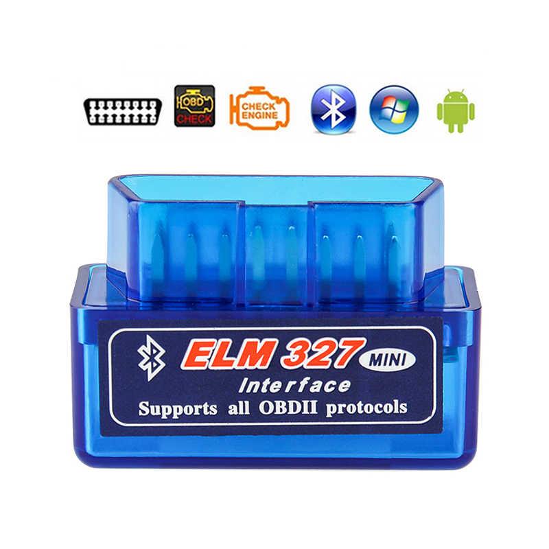 Super mini elm327 bluetooth obd2 v1.5 elm 327 v 1.5 obd 2 carro diagnóstico-ferramenta scanner elm-327 obdii adaptador ferramenta de diagnóstico automático