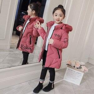 Image 5 - 2019 neue Ankunft Kinder Winter Jacke für Mädchen Kinder Mit Kapuze Warme Mäntel Baumwolle Gepolsterte Parka Mädchen Cartoon Print Unisex Outwear