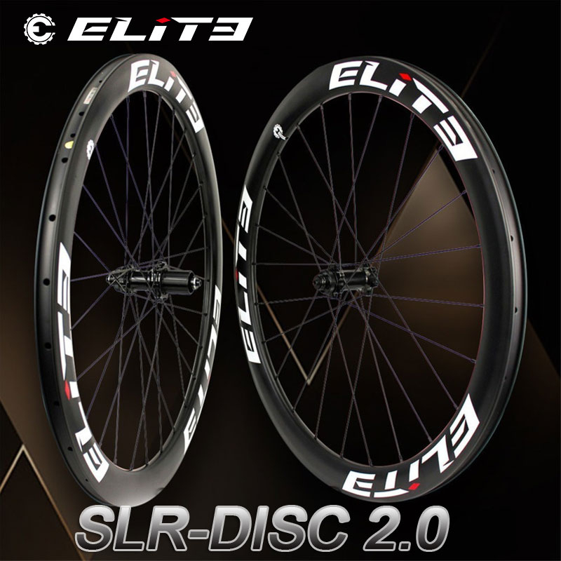 Elite SLR 700c Gravel Cyclocross Wheelset Bicycle Tubular Clincher Tubeless Low Resistance Disc Brake Hub Carbon Road Bike Wheel