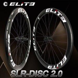 Image 1 - Elite Slr 700c Schijfrem Carbon Racefiets Wiel Grind Cyclocross Wielset Fiets Tubular Clincher Tubeless Lage Weerstand Hub