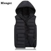 Демисезонный куртка без рукавов для Для мужчин модные теплые с капюшоном мужской зимний жилет свет плюс Размеры Для мужчин S работы Вязаные Жилеты для женщин жилет