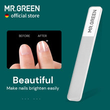 MR.GREEN Nano Glass Nail Files Professional Polishing Manicure Art Tool Washable make nails brighten easily like nail polish