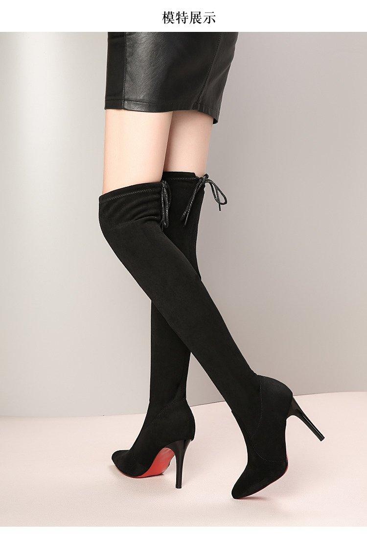 2020 mulher botas longas de fundo vermelho