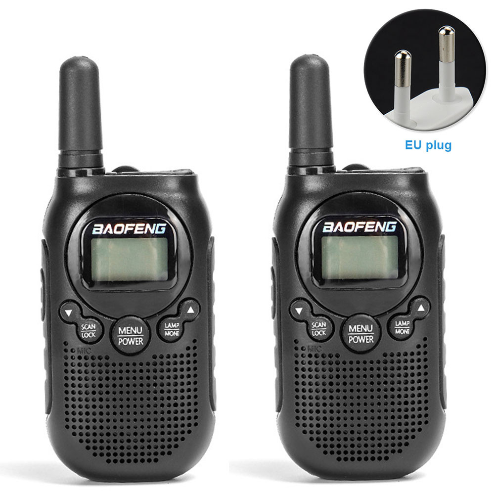 2pcs Communication 2 Way Radio Long Distance 16 Channel Kid Walkie Talkie Ergonomic Mini Rechargeable Noise Reduction Hiking